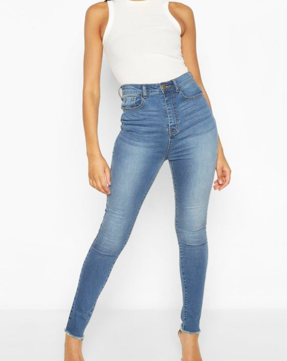 womens-mid blue-tall-denim-bum-lifting-skinny-jeans